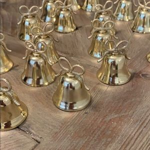 Gold bell name card holders